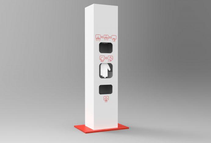 Automatyczna wolnostojąca stacja do dezynfekcji rąk